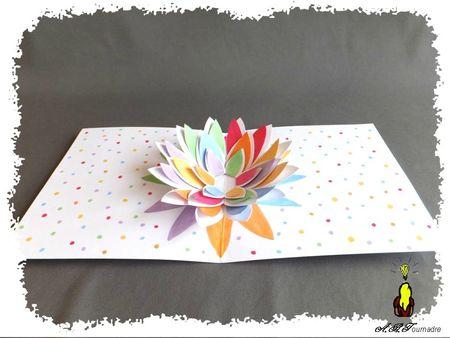 ART 2013 05 fleur pop-up multicolore 3