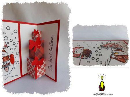 ART 2012 12 bonhommes de neige noir et rouge 3