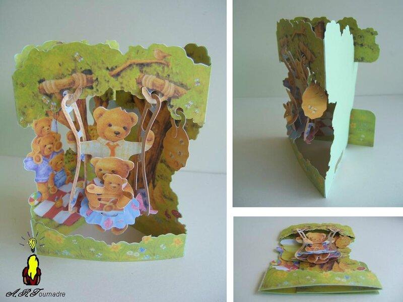 ART 2011 carte famille ours sur balancoire