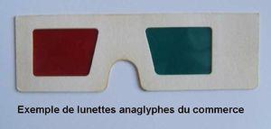 lunettes anaglyphes du commerce