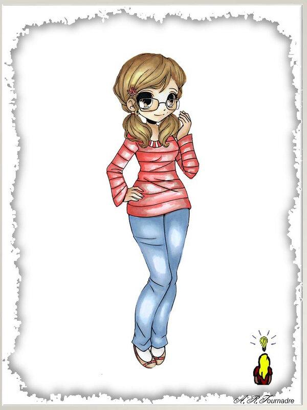 ART 2020 08 fille en jean dessin
