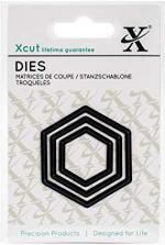 X-cut mini die hexagones