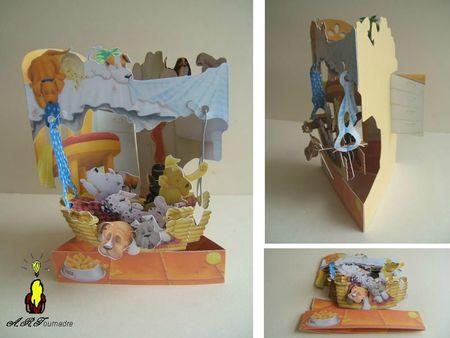 ART 2011 carte balancoire famille chien dans panier