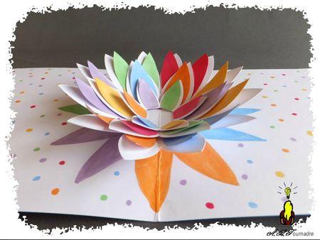 ART 2013 05 fleur pop-up multicolore 5