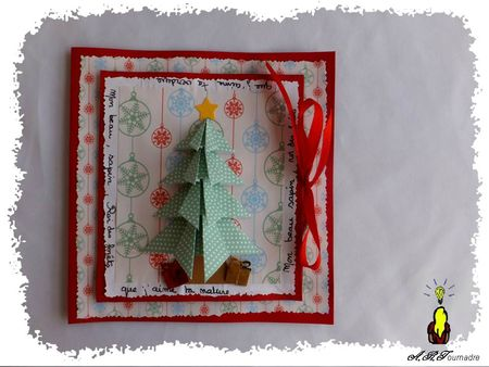 ART 2012 12 sapin origami et pop-up 1
