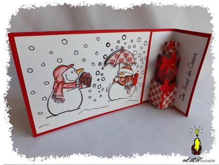 ART 2012 12 bonhommes de neige noir et rouge 2