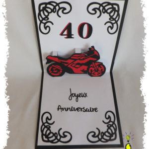 Carte kirigami moto